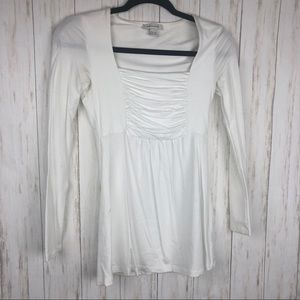 Boston Proper White babydoll blouse